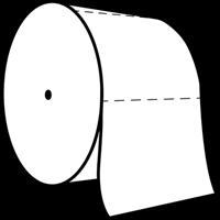 Praxis Edge toiletpapier Coreless tweelaags cellulose 36x100m