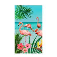 Good Morning strandlaken Flamingo (100x180 cm) Multi