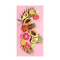Good Morning kinderstrandlaken Pink Fruits (75x150 cm) Roze