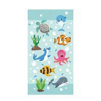 Good Morning kinderstrandlaken Seaworld (75x150 cm) Aqua