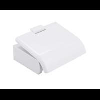 Baseline toiletrolhouder met klep wit