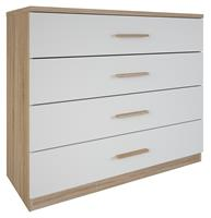 youngfurniture Commode Selena 100 cm breed - eiken met wit