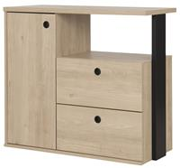 gamillofurniture Commode Duplex 80 cm hoog in naturel kastanje