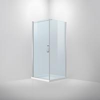 vanrijn van Rijn ST02 douchecabine chroom 90x90cm voor badkamer met vloerverlaging