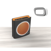 Extel deurbel Dibi flash zwart/oranje