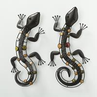 Boltze Home Wandobject Nizza salamander metaal