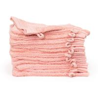 theonetowelling The One Towelling 12-PACK: Washandjes Organic - 16 x 21 cm - Zalmroze