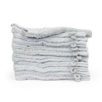 theonetowelling The One Towelling 12-PACK: Washandjes Organic - 16 x 21 cm - Zilvergrijs