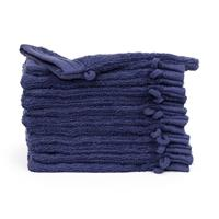theonetowelling The One Towelling 12-PACK: Washandjes Organic - 16 x 21 cm - Denim