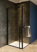 riho Lucid GD201 douchecabine 100x100cm mat zwart