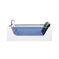 Beliani Whirlpool-bad wit met LED CURACAO