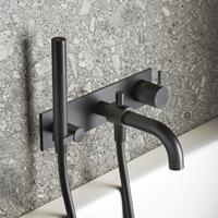 Hotbath Cobber X afbouwdeel voor douche/badmengkraan, automatische omstelinrichting mat zwart CX026EXTBL