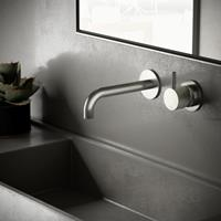Hotbath Cobber X afbouwdeel voor wastafelmengkraan met 18cm uitloop geborsteld nikkel CX005EXT18GN