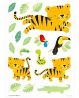 littlelovely Little Lovely muurstickers Jungle junior 50 cm groen/geel vinyl