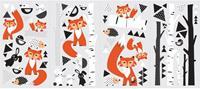 muurstickers vossenbos vinyl 60 stuks