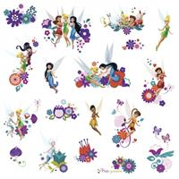 roommates muurstickers Disney Fairy Friends vinyl 18 stuks