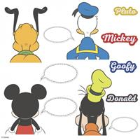 roommates muurstickers Mickey and Friends vinyl 12 stuks