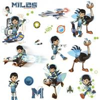 roommates muurstickers Miles From Tomorrowland vinyl 21 stuks