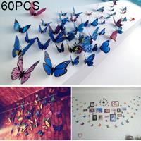 60 STKS Woondecoratie Originaliteit Dubbeldeks PVC 3D vlindermuurpasta