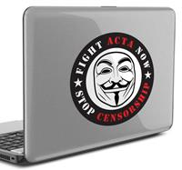 tenstickers Laptopsticker ACTA Internet