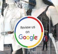 tenstickers Raamsticker voor winkels Google Review
