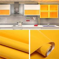 Parelmoer Creatieve PVC Baksteen Decoratie Meubels Behang Stickers Slaapkamer Woonkamer Muur Waterdicht Behang Rol, Afmeting: 60x500cm (Geel)
