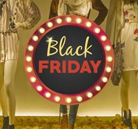 tenstickers Raamsticker Black Friday rond