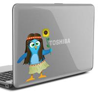 tenstickers Twitter Hippie vogel Laptop Sticker