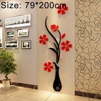 Creatieve Vaas 3D Acryl Stereo Muurstickers TV Achtergrond Muur Gang Woondecoratie, Afmeting: 79x200x4cm