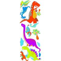 Art for the Home muursticker Dinosaurus 2x - multikleur - 25x75 cm