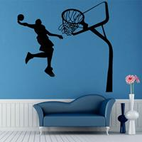 dennisdeal Verwijderbare basketbal Dunk Sport DIY muursticker kinderkamer Art Decor Decals