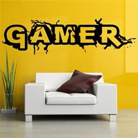 dennisdeal Muur Room Decor Art Vinyl Sticker Muurschildering Sticker Gamer Woord Game Interieur Kinderkamer Muurstickers