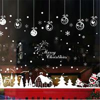 dennisdeal Xmas Christmas Window Sticker Sneeuwvlok Rendier Kerstman Tree Home Decor Nieuwe muursticker