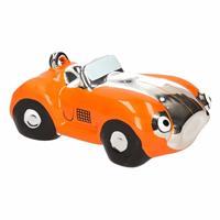 Spaarpot oranje sportauto cabriolet 14 cm - Spaarpotten