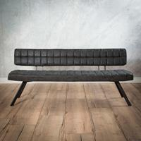 lifestylefurn EetkamerbankGinger' 180cm, kleur Zwart