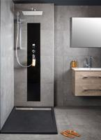 xenz Upfall Shower Excellent Tray 140cm zwart-cement