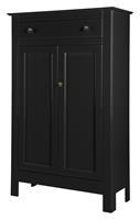 woood Opbergkast 'Eva' 150 x 93cm, kleur Zwart