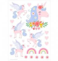 littlelovely Little Lovely muurstickers Eenhoorn junior 50 cm vinyl roze