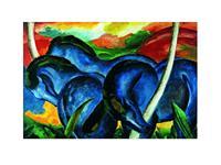 PGM Franz Marc - Die großen blauen Pferde Kunstdruk 71x56cm