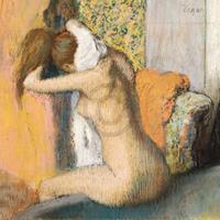 PGM Edgar Degas - Frau nach dem Bade Kunstdruk 80x60cm