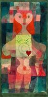 PGM Paul Klee - Herzdame Kunstdruk 60x80cm