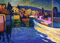 PGM Wassily Kandinsky - Herbstlandschaft mit Booten Kunstdruk 80x60cm
