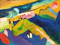 PGM Wassily Kandinsky - Murnau, Berglandschaft Kunstdruk 80x60cm