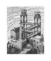 PGM M. C. Escher - Wasserfall Kunstdruk 55x65cm