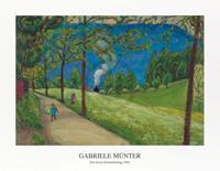 PGM Gabriele Münter - Der letzte Schnauferlzug 1924 Kunstdruk 90x70cm