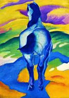 PGM Franz Marc - Blaues Pferd II Kunstdruk 70x100cm