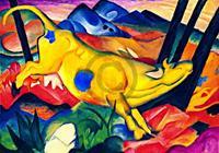 PGM Franz Marc - Die gelbe Kuh Kunstdruk 100x70cm