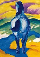 PGM Franz Marc - Blaues Pferd II Kunstdruk 21x29.7cm
