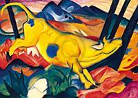 PGM Franz Marc - Die gelbe Kuh Kunstdruk 29.7x21cm