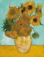 PGM Vincent Van Gogh - Vase mit Sonnenblumen Kunstdruk 70x90cm